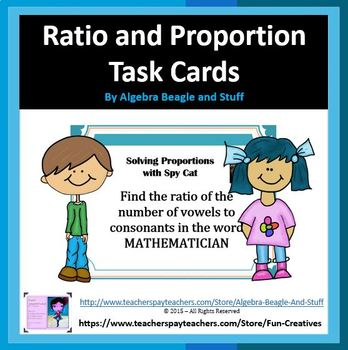 Ratio and Proportion Task Cards