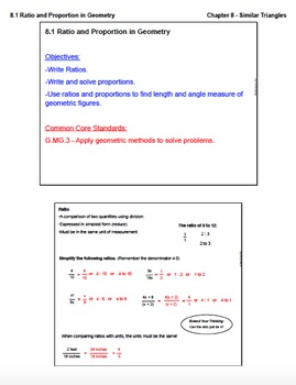 Ratio and Proportion in Geometry (Lesson with Homework)