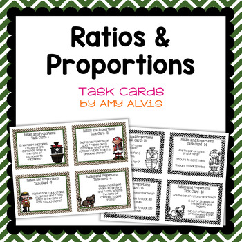 Ratio and Proportion task cards - Pirates