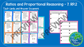 Ratios and Proportional Reasoning Bundle - 7.RP.1, 7.RP.2 and 7.RP.3