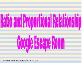 Ratio and Proportional Reasoning Review Digital Escape Room