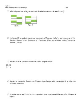 Ratio and Proportionality Test