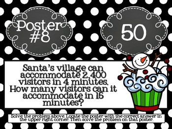 Ratio and Proportions Christmas Scavenger Hunt