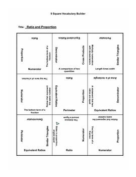 Ratio and Propotion 9 Square
