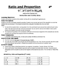 Ratio and Propotion Game Puzzle with Worksheet