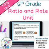 6th Grade Ratio and Rate Unit