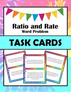 Ratio and Rate Task Cards
