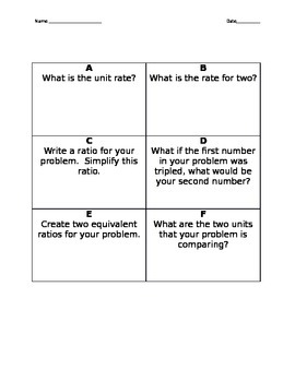 Ratio and Unit Rate Activity