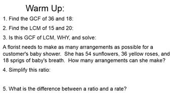 "Ratio and rate ""let's make a deal"" smart notebook"