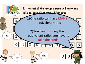 Ratio card game