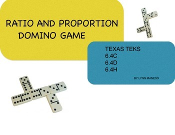 Ratio, rate and proportion game