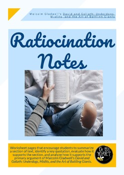 Ratiocination Notes for David and Goliath by Malcolm Gladwell