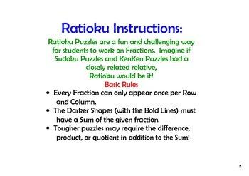 Ratioku - KenKen Puzzles with Fractions