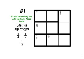 picture regarding Kenken Printable identified as Ratioku - KenKen Puzzles with Fractions