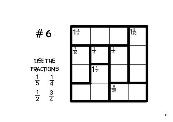 photo regarding Kenken Printable Puzzles known as Ratioku - KenKen Puzzles with Fractions