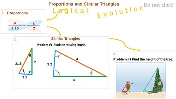 Ration, Proportion and Similar Triangles