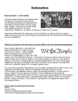 Rationalism: A Time of Enlightenment