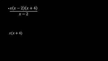 Rational Algebraic Expressions - PowerPoint Lesson (4.4)
