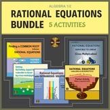 Rational Equations Activities BUNDLE