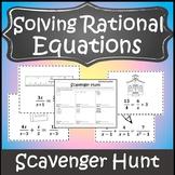 Rational Equations Activity {Solving Rational Equations}{Algebra Scavenger Hunt}