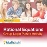 Rational Equations Group Logic Puzzle Activity