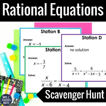 Rational Equations Scavenger Hunt