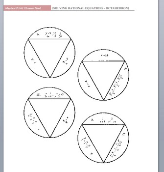 Rational Equations Worksheet and Link to Octahedron Activity! by ...