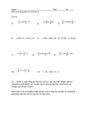 Rational Equations practice