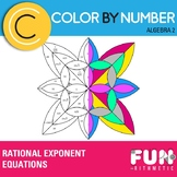 Rational Exponent Equations Color by Number