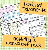 Rational Exponents Activity, Worksheet & Assessment Bundle