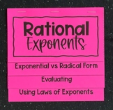 Rational Exponents (Algebra 1 Foldable)