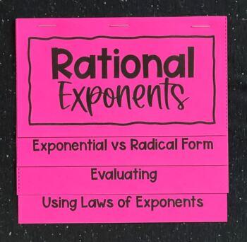 Rational Exponents (Algebra 1 Foldable)