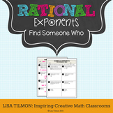 Rational Exponents Find Someone Who Activity