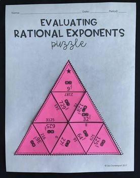 Rational Exponents (Mini Puzzle)