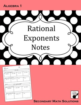 Rational Exponents Notes