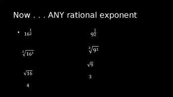Rational Exponents - PowerPoint Lesson (8.1)
