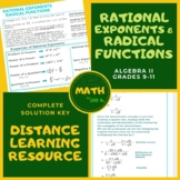 Rational Exponents & Radical Functions Algebra 2 Lesson +