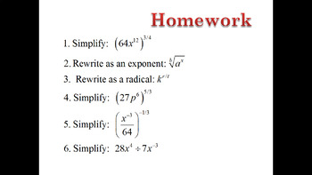 Rational Exponents - Using Language to Make Sense