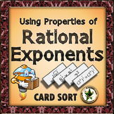 Rational Exponents and Exponent Rules Card Sort Activity