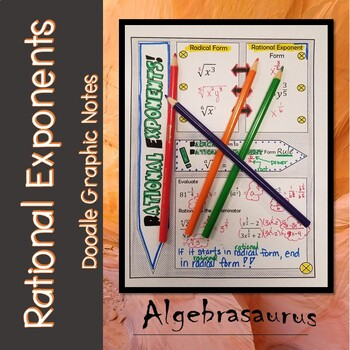 Rational Exponents vs. Radical Form Doodle Graphic Organizer