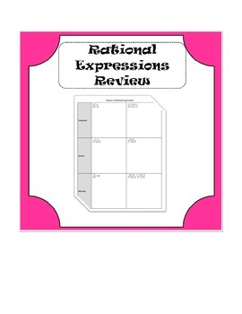 Rational Expression Review