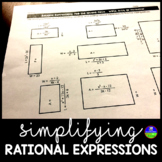 Simplifying Rational Expressions Worksheet Activity
