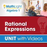 Rational Expressions   Algebra 1 Unit with Videos   Good f