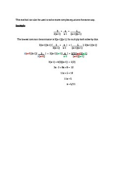 Rational Expressions and Equations