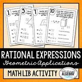 Rational Expressions Applications Math Lib