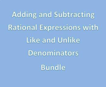 Rational Expressions Bundle