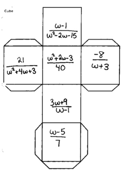 Rational Expressions Cube Activity