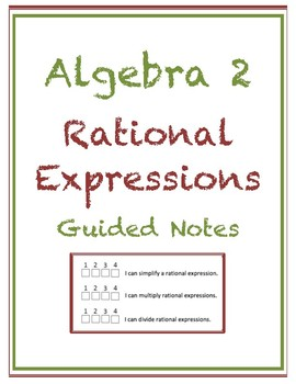Rational Expressions Guided Notes (Editable)