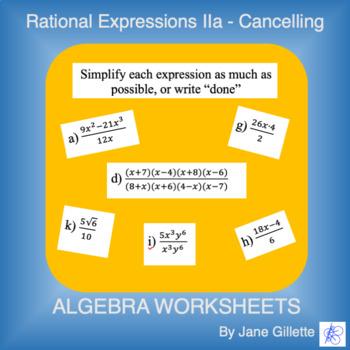 Rational Expressions IIa