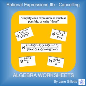 Rational Expressions IIb